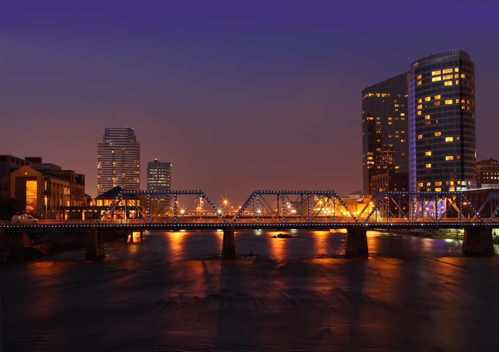 Grand Rapids Skyline Night