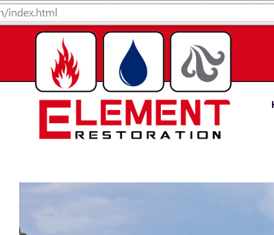 Element Restoration - Website Design