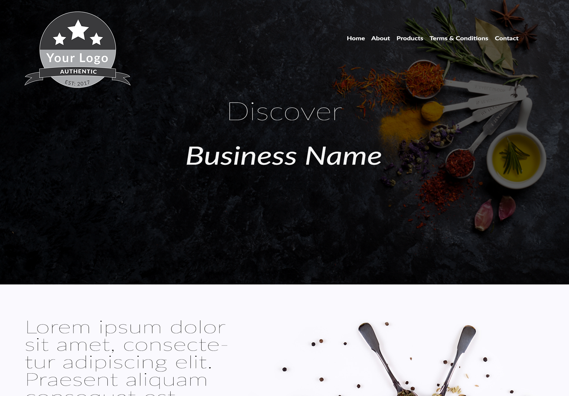 Retail Website Template