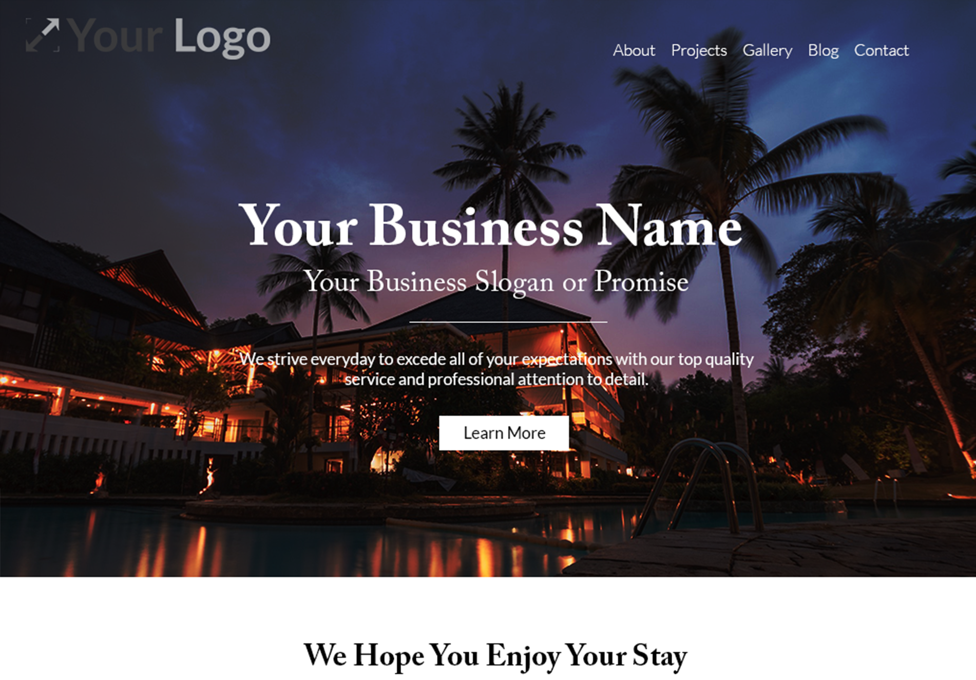 Destination Website Template